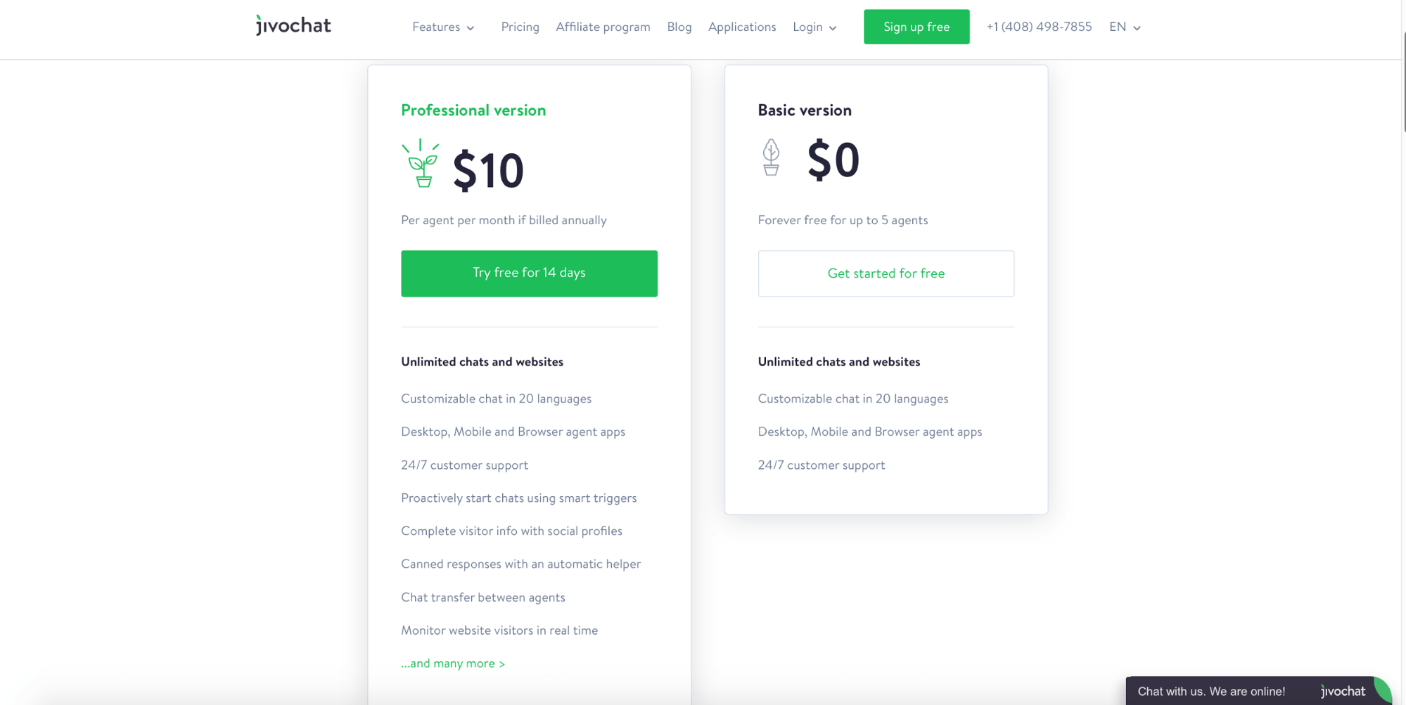 jivochat pricing page